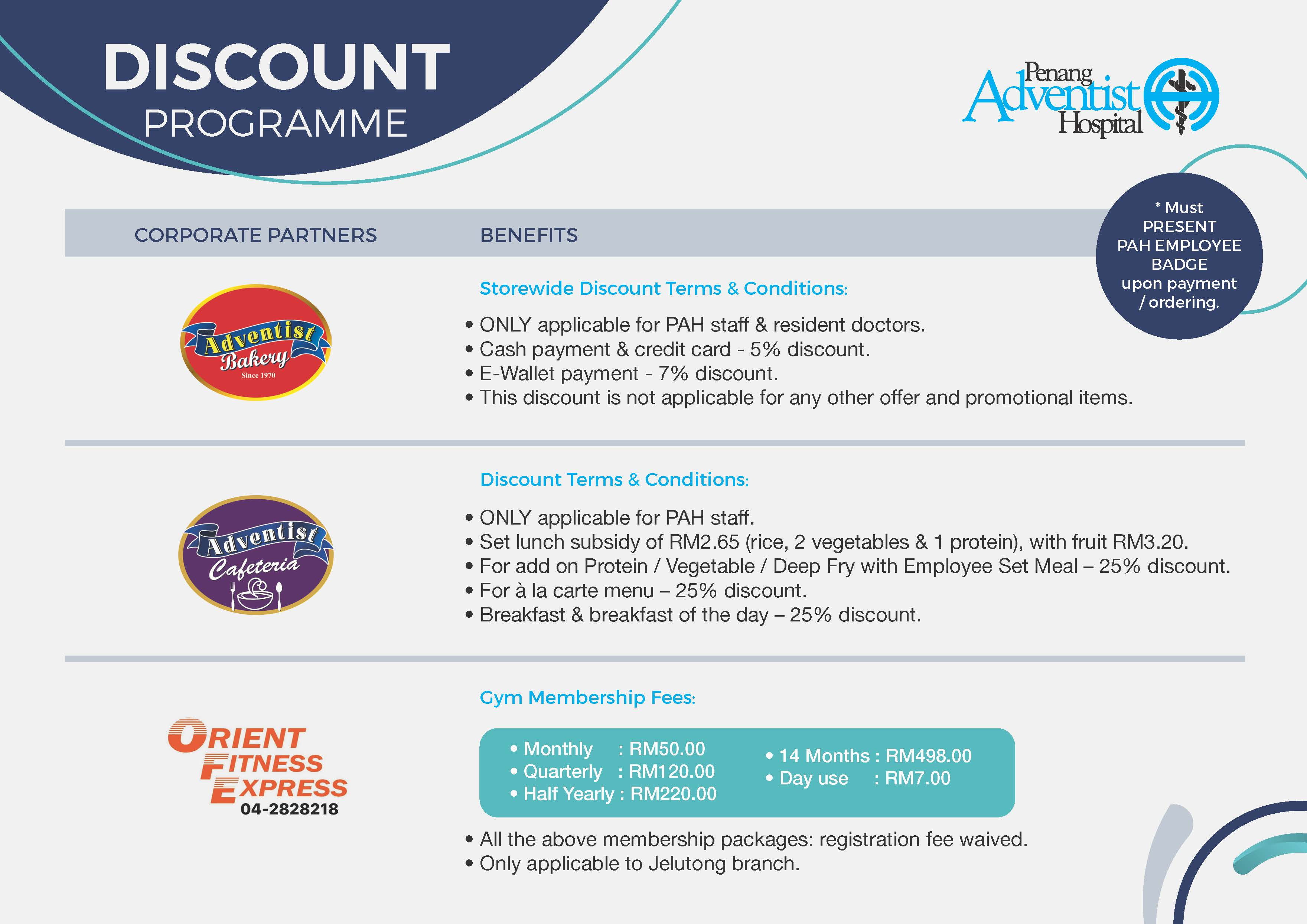 Corporate Partners Discount Program 2020-1