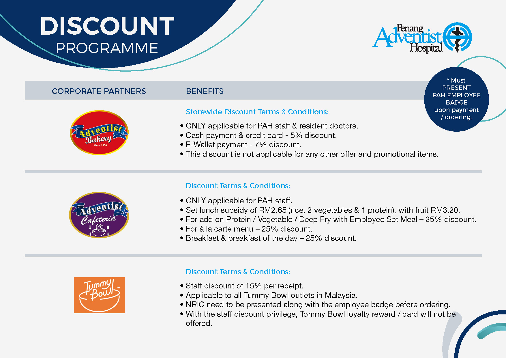 Corporate Partners Discount Program 2020-1